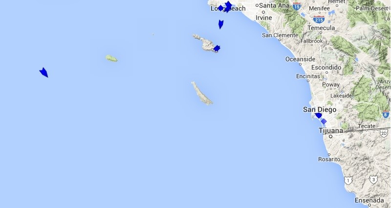 California Cruise Ship Tracker