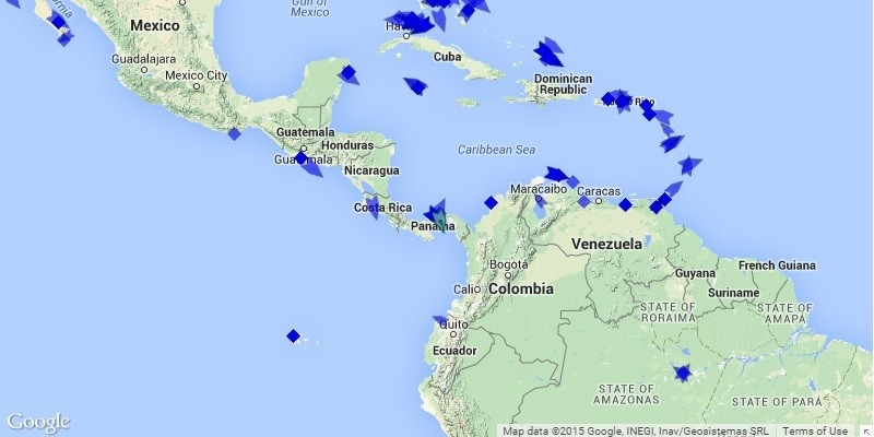 Caribbean Cruise Ship Tracker