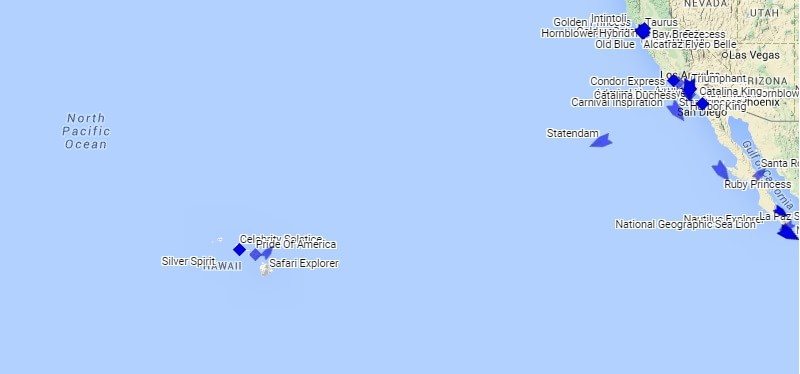 Hawaii Cruise Ship Tracker