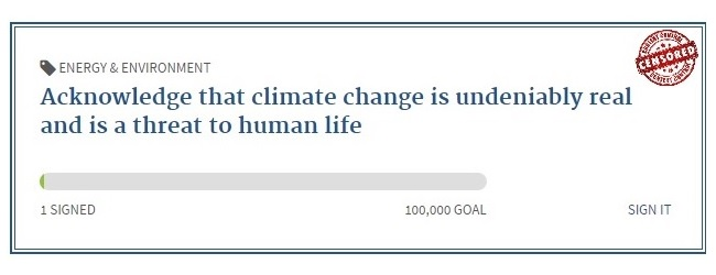 Climate change threatens human life