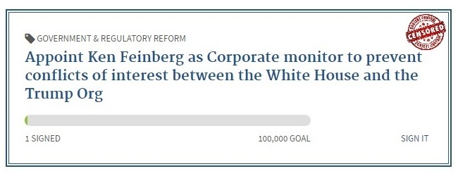 Appoint Ken Feinberg to monitor conflicts of interest