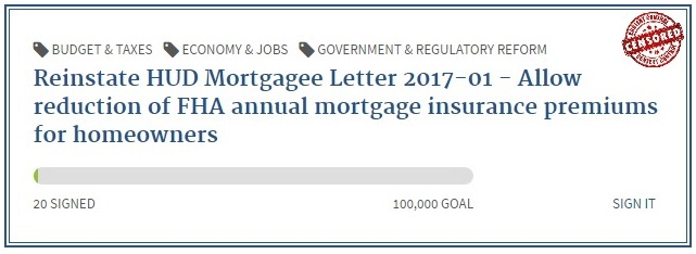 Reinstate home mortgage insurance premium tax deductions