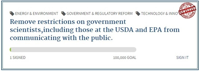 Remove restrictions on USDA, EPA public communications