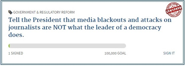 POTUS media blackouts not what democratic leaders do