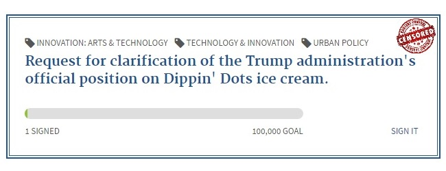 POTUS position on Dippin Dots